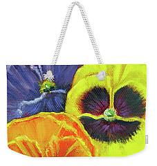 Mixed Pansy  Weekender Tote Bag