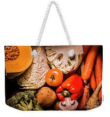 Mixed Vegetable Produce Pack Weekender Tote Bag by Jorgo Photography - Wall Art Gallery