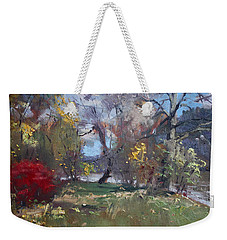 Mixed Weather In A Fall Afternoon Weekender Tote Bag by Ylli Haruni