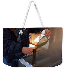 Mixing The Maple Syrup Weekender Tote Bag by James Kirkikis