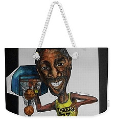 Mj Caricature Weekender Tote Bag by Michelle Gilmore