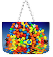 Weekender Tote Bag featuring the photograph Mm Chocolate Sweets by David French