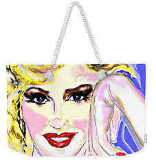 Weekender Tote Bag featuring the drawing MM by Desline Vitto