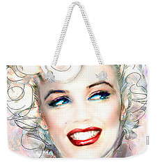 Mmother Of Pearl P Weekender Tote Bag