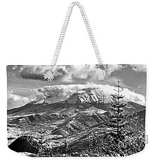 mMt. St.Helens Autumn in Black and White Weekender Tote Bag