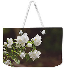 Weekender Tote Bag featuring the photograph Mock Orange Blossoms by Kim Hojnacki