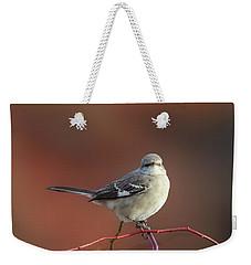Mocking Bird Morning Square Weekender Tote Bag