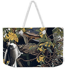 Mocking Birds And Rattlesnake Weekender Tote Bag by John James Audubon
