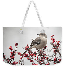 Mockingbird And Berries Weekender Tote Bag