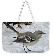 Mockingbird In The Snow Weekender Tote Bag