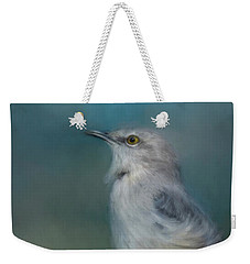 Mockingbird On A Windy Day Weekender Tote Bag by Jai Johnson