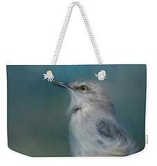 Mockingbird On A Windy Day Weekender Tote Bag