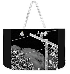 Mockingbird On A Wire Weekender Tote Bag
