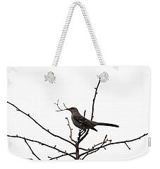 Mockingbird With Twig Weekender Tote Bag