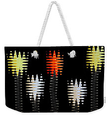 Weekender Tote Bag featuring the photograph Mod Tulips Up And Down by Marsha Heiken