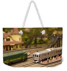 Model Trains Weekender Tote Bag by Patrice Zinck