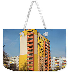 Weekender Tote Bag featuring the photograph Modern Apartment Buildings by Juli Scalzi