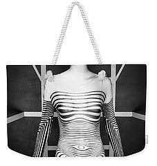 Modern Black And White Weekender Tote Bag by Scott Meyer
