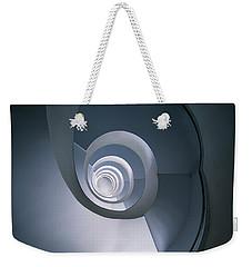 Modern Blue Spiral Staircase Weekender Tote Bag by Jaroslaw Blaminsky