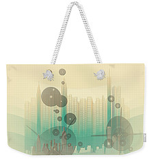Weekender Tote Bag featuring the photograph Modern City Abstract by Robert G Kernodle