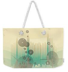 Modern City Abstract Weekender Tote Bag by Robert G Kernodle