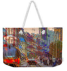 Weekender Tote Bag featuring the photograph Modern City Impression by Vladimir Kholostykh