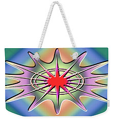 Weekender Tote Bag featuring the digital art Modern Design Wide 1 by Chuck Staley