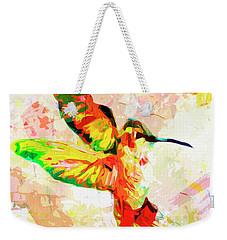 Modern Expressive Hummingbird  Weekender Tote Bag