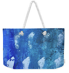 Weekender Tote Bag featuring the painting Modern Fossil by Robin Maria Pedrero