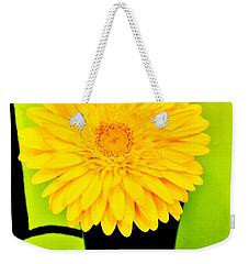 Weekender Tote Bag featuring the photograph Modern Gerber by Marsha Heiken