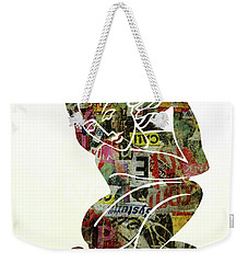 Modern Graffiti Girl Print Abstract Painting Art By Robert Erod Weekender Tote Bag