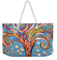Weekender Tote Bag featuring the painting Modern Impasto Expressionist Painting  by Gioia Albano