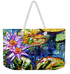 Modern Impressionist Lily Pond Reflections Weekender Tote Bag