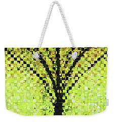 Weekender Tote Bag featuring the painting Modern Landscape Art - Pieces 10 - Sharon Cummings by Sharon Cummings