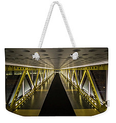 modern looking pedway in Chicago Weekender Tote Bag