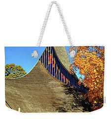 Modern New England Church In Fall Weekender Tote Bag