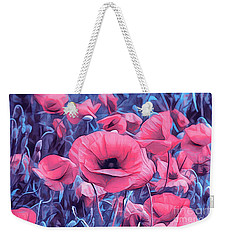 Modern Poppies Weekender Tote Bag