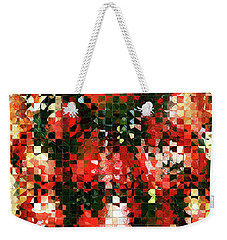 Modern Red Poppies - Pieces 4 - Sharon Cummings Weekender Tote Bag by Sharon Cummings