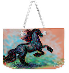 Modern Royal Friesian Weekender Tote Bag
