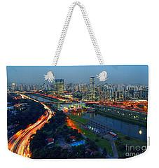 Modern Sao Paulo Skyline - Cidade Jardim And Marginal Pinheiros Weekender Tote Bag
