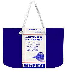 Modern To The Minute Weekender Tote Bag