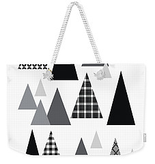 Modern Triangle Trees- Art By Linda Woods Weekender Tote Bag