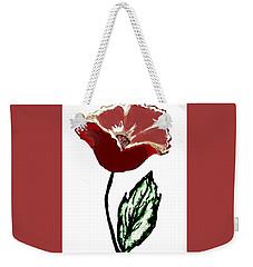 Modernized Flower Weekender Tote Bag by Marsha Heiken
