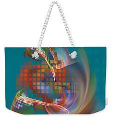 Weekender Tote Bag featuring the digital art Moebius City by Menega Sabidussi