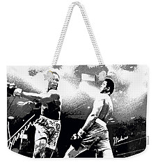 Mohamed Ali Float Like A Butterfly Weekender Tote Bag by Saundra Myles