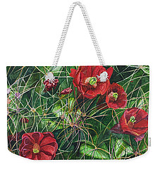 Mohave Mound Cactus Weekender Tote Bag