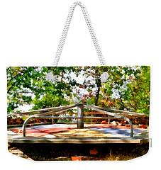 Weekender Tote Bag featuring the painting Mohegan Lake Merry-go-round by Derek Gedney