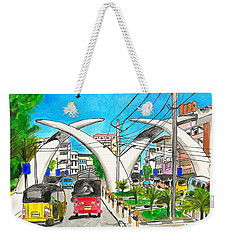 Moi Ave, Mombasa Tusks  Weekender Tote Bag
