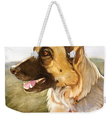 Weekender Tote Bag featuring the painting Mollie by Marilyn Jacobson