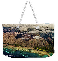 Weekender Tote Bag featuring the photograph Molokai From The Sky by Joann Copeland-Paul